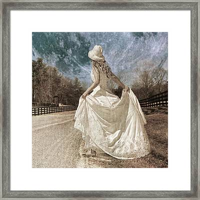 Beside Myself The Moon Framed Print by Betsy Knapp