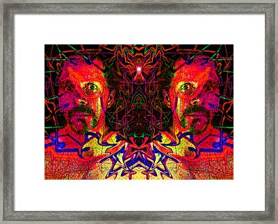 Beside Myself With Entropic Axis 2014 Framed Print by James Warren