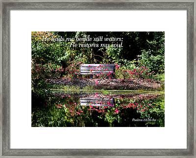 Beside Still Waters Framed Print by Paula Tohline Calhoun