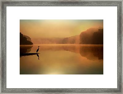 Beside Still Waters Framed Print by Rob Blair
