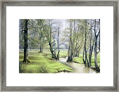 Framed Print featuring the painting Beside Still Waters by Rosemary Colyer