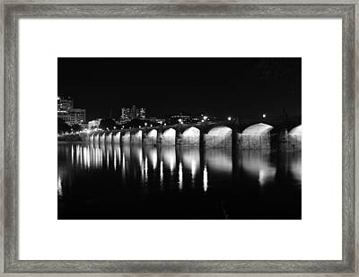 Beside The Bridge At Night...   # Framed Print