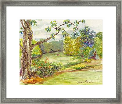Beside The River Framed Print by Gedda Runyon Starlin