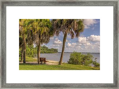 Framed Print featuring the photograph Beside The Shore by Jane Luxton