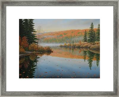 Beside The Still Water Framed Print