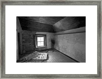 Beside The Window Framed Print