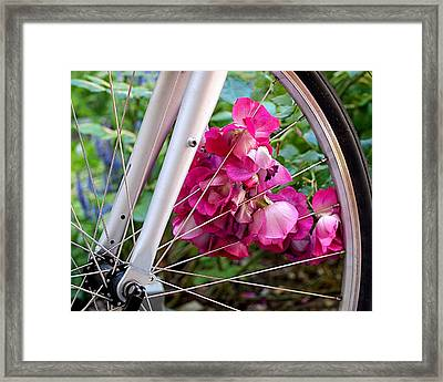 Bespoke Flower Arrangement Framed Print by Rona Black