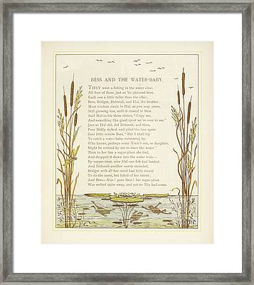 Bess And The Water-baby Framed Print by British Library