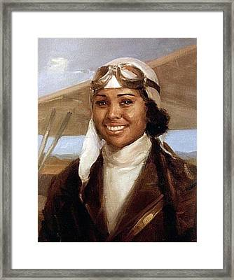 Bessie Coleman, American Aviator Framed Print