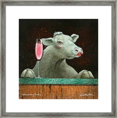 Bessie Mae Moocho... Framed Print by Will Bullas