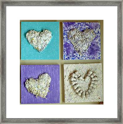 Besso Decade Hearts Framed Print