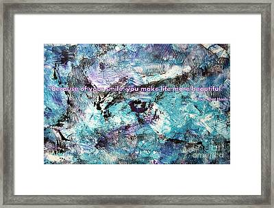 Besso Monotype Smile Framed Print by Marlene Rose Besso