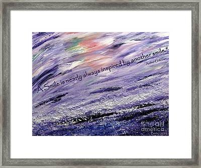 Besso Tsunami Smile Quote Framed Print by Marlene Rose Besso