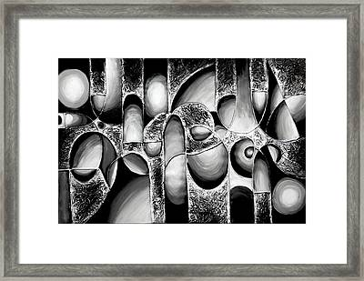 Best Art Choice Award Original Abstract Oil Painting Modern White Black Contemporary Home Gallery Framed Print by Emma Lambert