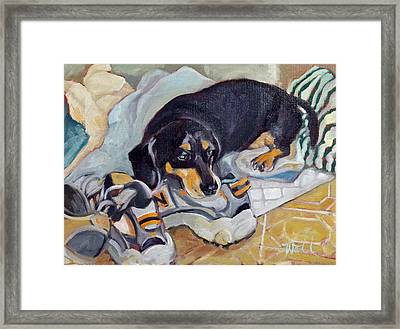 Best Dog In The Whole World Framed Print