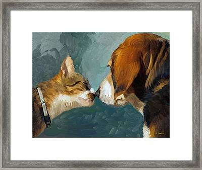 Best Friends Framed Print by Angela A Stanton