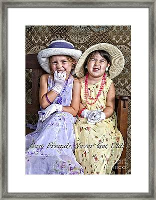 Best Friends Card Framed Print by Lee Craig
