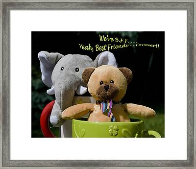 Framed Print featuring the photograph Best Friends Forever by Rhonda McDougall