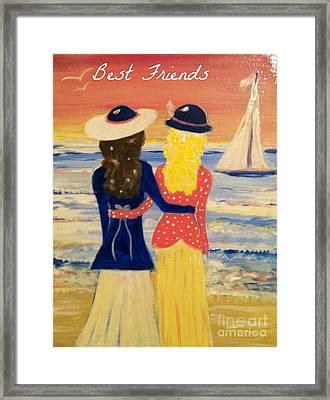 Best Friends Greeting Card Framed Print