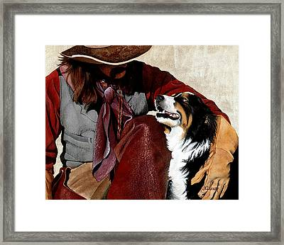 Best Friends Framed Print by JK Dooley