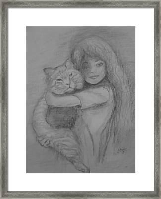 Best Friends Framed Print by Julie Grace