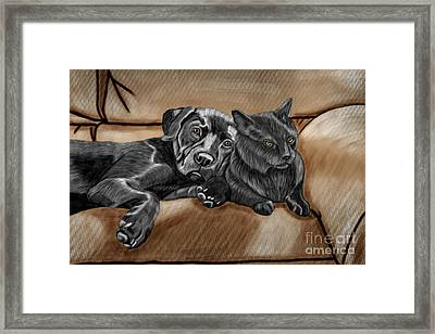 Best Friends Framed Print by Karen Sheltrown