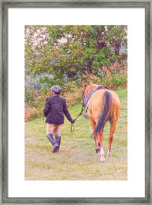 Best Friends Framed Print by Karol Livote