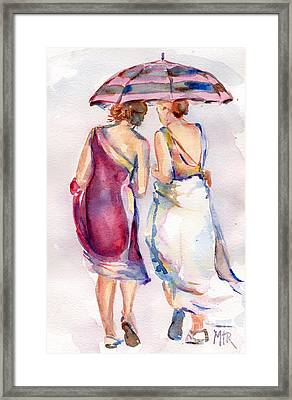 Best Friends Framed Print by Maria's Watercolor
