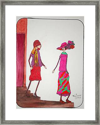 Best Friends Framed Print by Mary Kay De Jesus