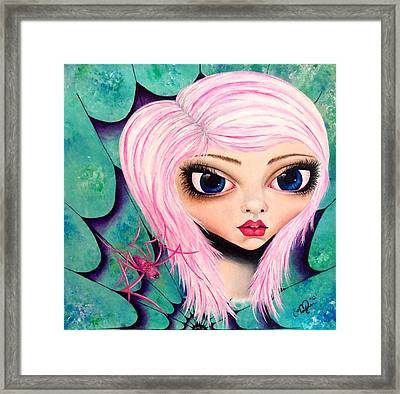 Framed Print featuring the painting Best Friends by Oddball Art Co by Lizzy Love