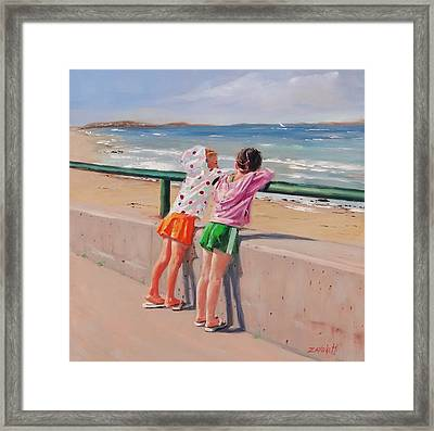 Best Friends Two Framed Print by Laura Lee Zanghetti