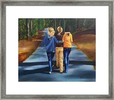 Best Friends Framed Print