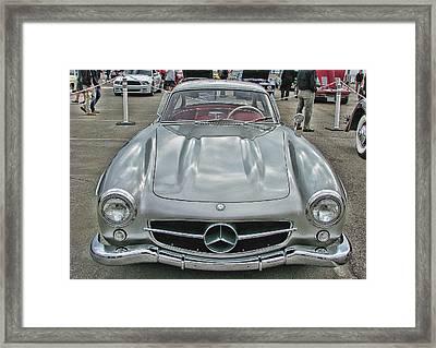 Best In Show Mercedes Benz 300sl Gullwing Framed Print by Samuel Sheats