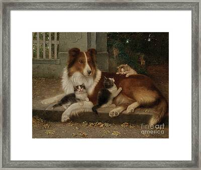 Best Of Friends Framed Print by Wilhelm Schwar