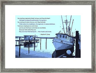 Best Parts Volunteered Framed Print by Mike Flynn