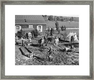 Best Play Yard Winner Framed Print by Underwood Archives