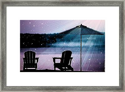 Best Seat In Muskoka Framed Print