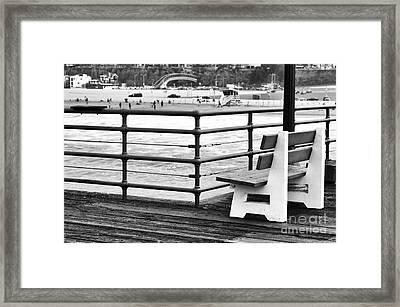 Best Seat On The Boardwalk Framed Print by John Rizzuto