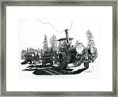 Best Steam Traction Engine Framed Print