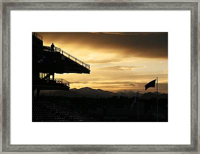 Best View Of All - Rockies Stadium Framed Print by Marilyn Hunt