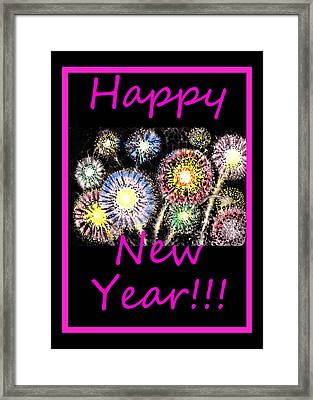 Best Wishes And Happy New Year Framed Print by Irina Sztukowski