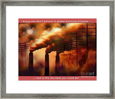 Best You Can Do.....series 7 Framed Print by The Stone Age