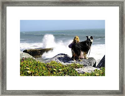 Framed Print featuring the photograph Bestfriends by Theresa Ramos-DuVon