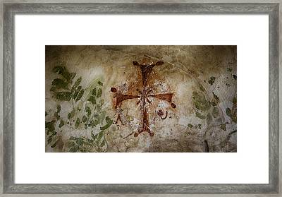 Bet She'an Baptistery Cross Framed Print