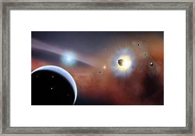 Beta Pictoris Star Framed Print