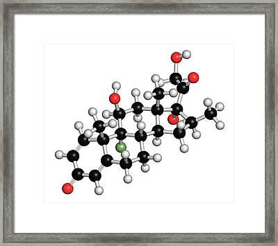 Betamethasone Steroid Molecule Framed Print by Molekuul