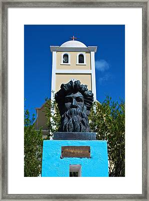 Betances Monument And Lares Church Framed Print