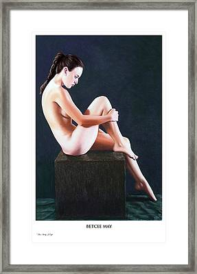 Betcee May Prints Only Framed Print by Joseph Ogle