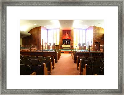Beth El Jacob Temple In Des Moines Framed Print by Doc Braham
