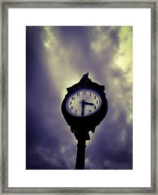 Bethany Beach Gloom Framed Print